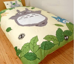 Blanket Case - 150x210cm - Totoro &amp; Chu &amp; Sho &amp; Kurosuke - Ghibli - 2009 (new)