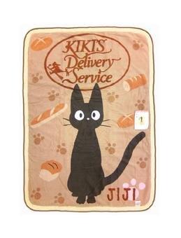 Blanket (M)100x140cm-Polyester & Microfiber- Jiji Bread- Kiki's Delivery Service - Ghibli -2009(new)