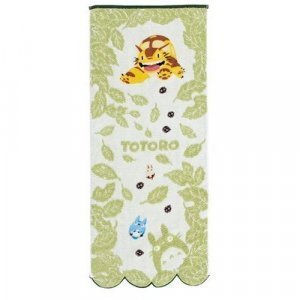 Face Towel - NonThread Steam Shirring - leaf - Totoro & Chu & Sho & Nekobus - Ghibli - 2009 (new)