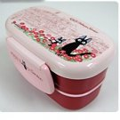 2 Tier Lunch Bento Box - Microwave-made in Japan- Jiji - Kiki&#39;s Delivery Service - Ghibli -2009(new)