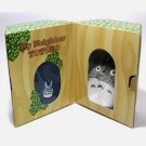 Plush Doll & Mini Towel in Tree - Gift Set - Chu Totoro Embroidered - navy -Ghibli - 2009 (new)