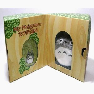 Plush Doll & Mini Towel in Tree - Gift Set - Totoro Embroidered - green - Ghibli - 2009 (new)