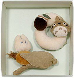 3 left - Baby Gift Set - 2 Rattle Toy - Organic - Totoro & Sho - out of production (new)