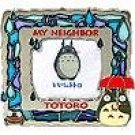 1 left - Stand Photo Frame - Stained Glass - Totoro & Frog - Ghibli - 2007- out of production (new)