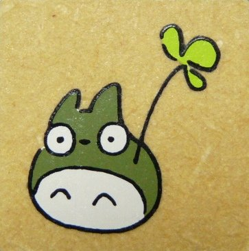SOLD - Rubber Stamp - Totoro holding leaf - Ghibli - RARE ...
