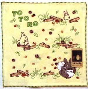 Mini Towel - Applique & Embroidery - Non Twisted Thread - Totoro - Ghibli - 2010 (new)