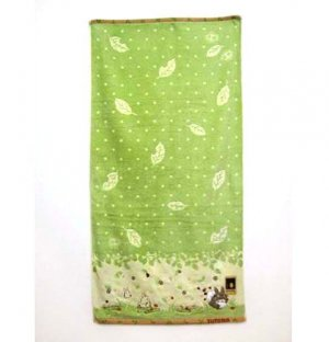 Bath Towel - Applique & Embroidery - Non Twisted Thread - Totoro - Ghibli - 2010 (new)