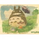 Natural Wood Jigsaw Puzzle - 208 pieces -Natural Wood Case- Totoro & Chu & Sho & Mei - Ghibli (new)