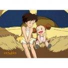 150 Mini pieces Jigsaw Puzzle - Mei & Satsuki riding Nekobus - Totoro - Ghibli - 2010 (new)