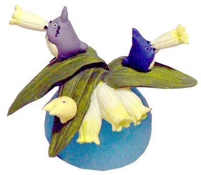 1 left- Ornament Figure -Polygonatum Falcatum- Totoro & Chu & Sho & Kurosuke - no production (new)
