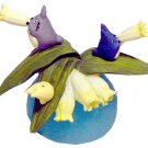 2 left- Ornament -Polygonatum Falcatum- Totoro & Chu & Sho & Kurosuke - Ghibli -out production (new)