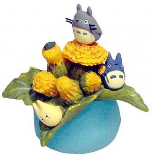 2 left- Ornament -Sonchus Oleraceus- Totoro &amp; Chu &amp; Sho &amp; Kurosuke - Ghibli -out of production (new)