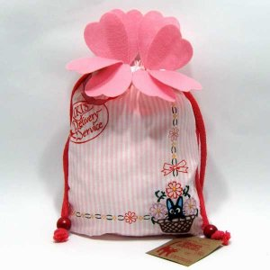 Kinchaku Bag - Embroidery - Jiji - Kiki&#039;s Delivery Service - Ghibli - 2010 (new)