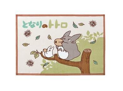Blanket (S) - 70x100cm - Cotton - Totoro & Sho & Kurosuke - Ghibli - made in Japan - 2010 (new)