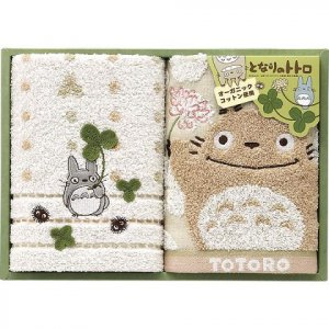 Towel Gift Set - Wash &amp; Face Towel - Organic -  Totoro - Ghibli - 2010 (new)