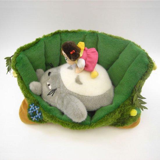 Plush Doll - Totoro & Mei & Tree - able to remove - Ghibli - Sun Arrow - 2010 (new)