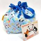 Lunch Bag / Kinchaku - Quilt - Panda Kopanda / Panda Go Panda - Ghibli - 2010 (new)