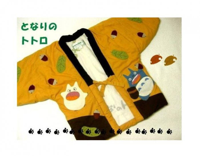 SOLD- Kid's Japanese Chanchanko / Indoor Coat -110cm- Totoro & Chu & Sho - no production (new)