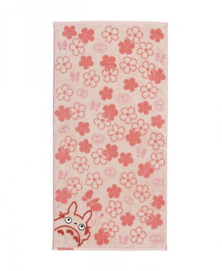 Bath Towel - Fluffy - flower - pink - Totoro - Ghibli - 2007 (new)