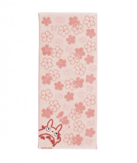 Face Towel - Fluffy - flower - pink - Totoro - Ghibli - 2007 (new)
