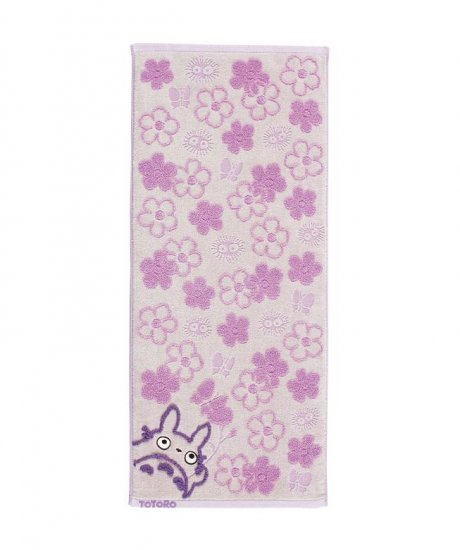 Face Towel - Fluffy - flower - purple - Totoro - Ghibli - 2007 (new)