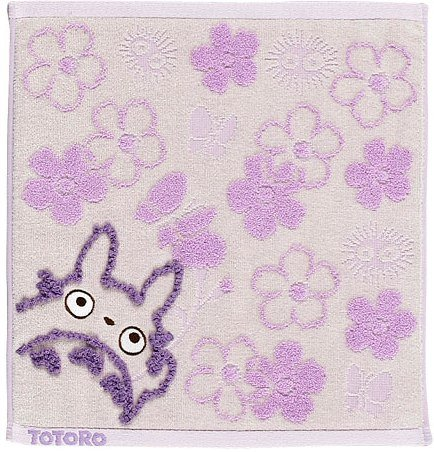 Hand Towel - Fluffy - flower - purple - Totoro - Ghibli - 2007 (new)