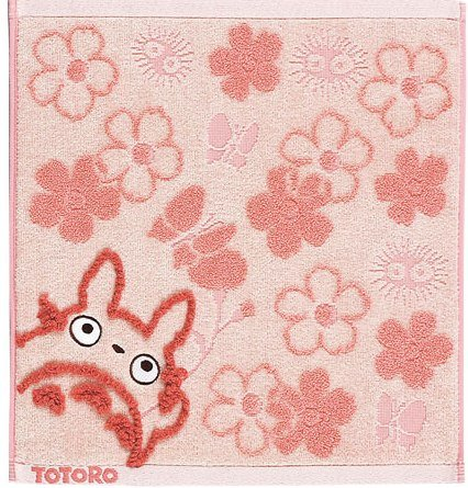 Hand Towel - Fluffy - flower - pink - Totoro - Ghibli - 2007 (new)