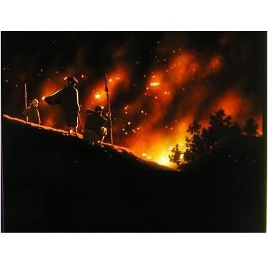 SOLD - Movie Film #1 - 6 frames - Eboshi & Fire - Mononoke - Ghibli - RARE (real film)