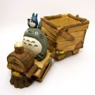 Planter Pot - Train - Totoro & Chu & Sho & Kurosuke - Ghibli - 2010 (new)