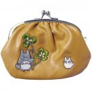 3 left- Purse Gamaguchi - Totoro & Chu & Kurosuke Embroidered - Synthetic Leather - 2010 (new)