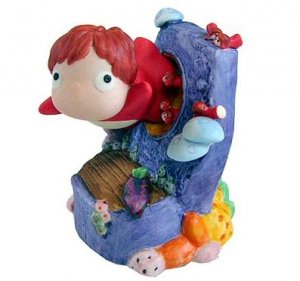 Music Box / Orgel - Ponyo & Sisters - escape - Porcelain - Rotary - Ghibli - Sekiguchi - 2010 (new)