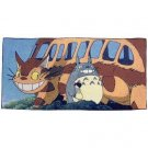 Bath Towel -60x120cm- Weaved 5 Colored Thread- Totoro Nekobus Satsuki -made in Japan- Ghibli (new)