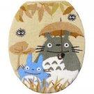 Toilet Lid Cover - regular - beige - Totoro & Chu & Kurosuke - Ghibli - 2010 (new)
