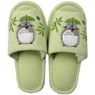 Slippers - 22~25cm - Totoro Applique & Kurosuke Embroidered - green - Ghibli - 2010 (new)