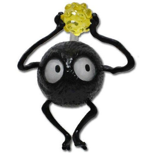 1 left - Pin Broach - Susuwatari with Konpeito - yellow - Spirited Away - 2010 - no production (new)