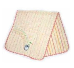 Face Towel - Non-Twisted Thread - Totoro Applique - rainbow - pink - Ghibli - 2007 (new)