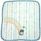Hand Towel - Non-Twisted Thread - Totoro Applique - rainbow - blue - Ghibli - 2007 (new)