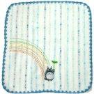 Hand Towel - Non-Twisted Thread - Totoro Applique - rainbow - blue - Ghibli - 2007 (new)