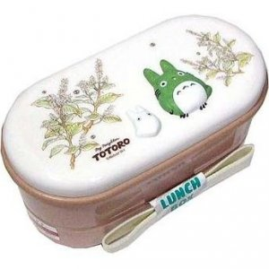 SOLD- 2 Tier Lunch Bento Box & Chopsticks & Belt-relief- Totoro - Ghibli -outproduction(new)