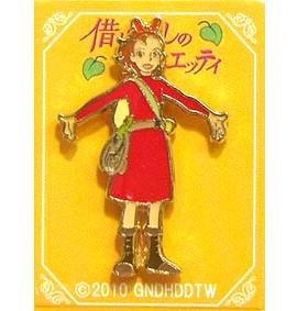 Pin Badge - Arrietty #3 - Karigurashi no Arrietty / The Borrower Arrietty -2010- no production (new)