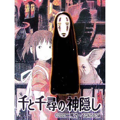 5 left - Pin Badge - Kaonashi - Spirited Away - Ghibli - no production (new)