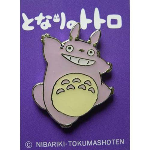 2 left - Pin Badge - purple - Totoro - Ghibli - no production (new)