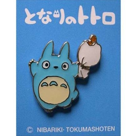 SOLD - Pin Badge - Chu Totoro holding Bag - Ghibli - no production (new)
