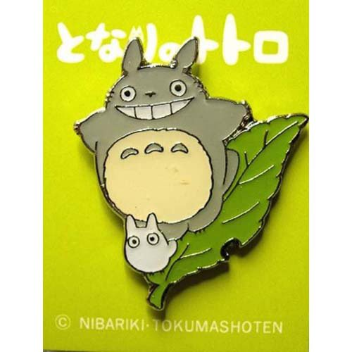 Pin Badge - Totoro & Sho Totoro on Leaf - Ghibli (new)