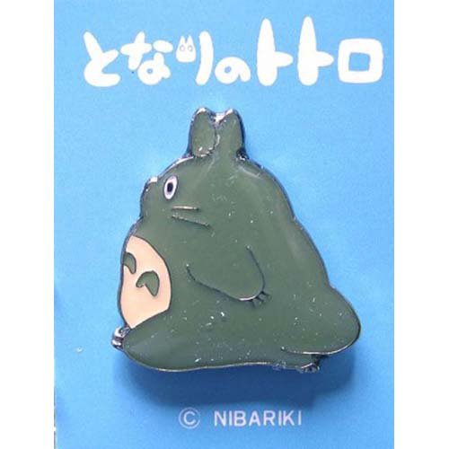 1 left - Pin Badge - green - Totoro - Ghibli - no production (new)