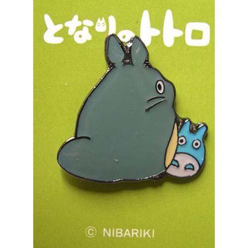 Pin Badge - Totoro & Chu Totoro - hide - Ghibli - no production (new)