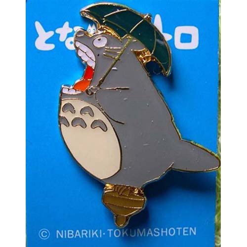 Pin Badge - Totoro holding Umbrella on Top - howl - Ghibli (new)