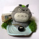 2 left - Mascot Plush Doll - Fishing - Totoro & Kurosuke - Sun Arrow - no production (new)
