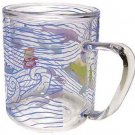 1 left - Glass Mug Cup - 2 Layers Heat Resistance - Microwave - Ponyo - Ghibli - no production(new)