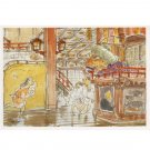 1 left - Postcard - Miyazaki Hayao's Drawing - Sen & Yubaba - Spirited Away - outproducton (new)